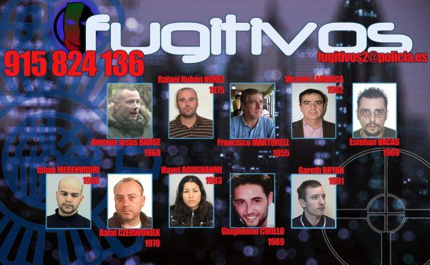 La Policía Nacional solicita colaboración para localizar a 10 fugitivos autores de graves delitos que podrían ocultarse en España
